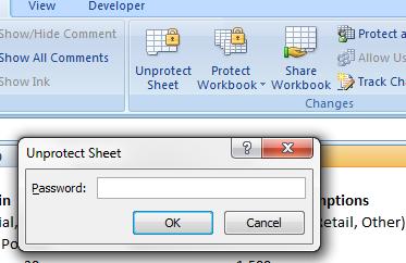 remove spreadsheet protection password