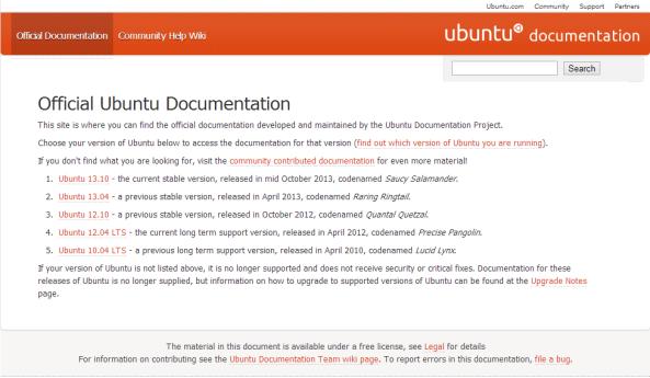 ubuntu doc